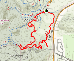 Sundance, Talon, Turkey Trot, Sundance, Zook Loop Map