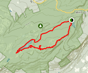 Upper Awosting, Lake Awosting and Castle Point Loop Map