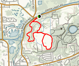 Green Lakes Double Loop Map