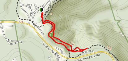 Indian Ladder and Escarpment Loop Map