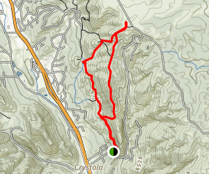Bald Mountain Loop via Canyon Drive Map