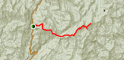 Unicoi Gap to Tray Mountain Shelter Map