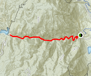 West Monument Creek Trail: 713 to Northfield Reservoir Map