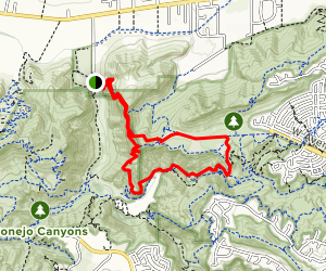Canyon Overlook to Mesa, North Tepee, Tepee, Wildwood Canyon and Lizard Rock Trail Loop [CLOSED] Map