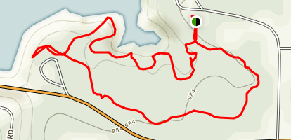 Toronto Lake Overlook Trail  Map