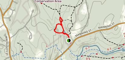 Short Loop and Mushroom Trail Map