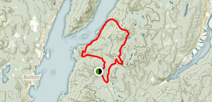 Shelving Rock and Black Mountain Loop Map