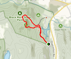 Blue Trail to Red Trail Loop Map