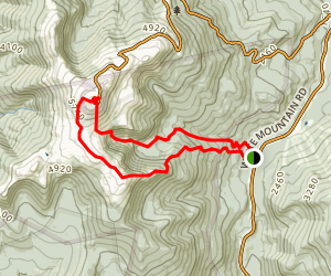 Boott Spur and Davis Path and Tuckerman Ravine Trail to Mount Washington Map