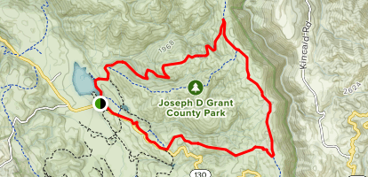 Halls Valley Trail to Yerba Buena Trail Map