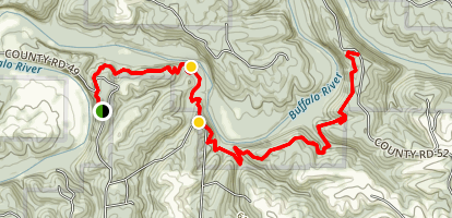 Buffalo River Trail: Red Bluff to South Maumee Map