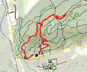 Blue Trail to Tower Trail Loop [CLOSED] Map