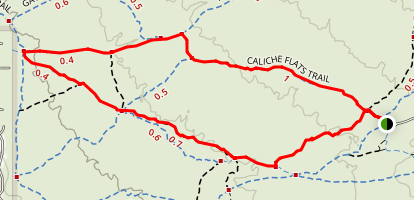 Prospector Trail to Caliche Flats Map