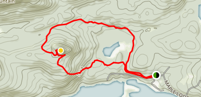 Castle Rock and Chub Pond Loop Map