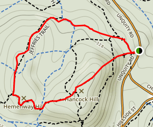 Hancock Hill and Jeffries Trail Loop Map