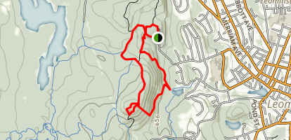 South Monoosnoc Hill Loop Map