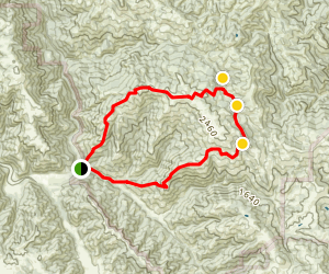 Wislon Peak Loop Map