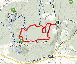 Quarry Lookout via Red, Blue and Green Loop Map
