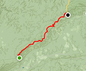Clairmont Gap to Adams Gap Map