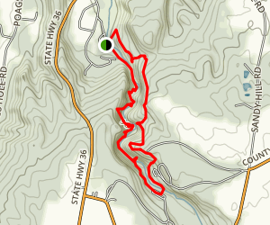 Stony Brook Via East Rim and Gorge Trails Map