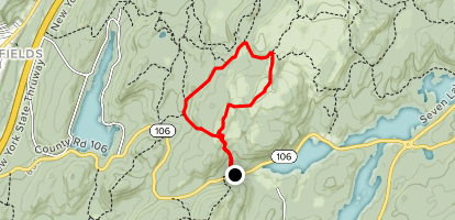 Bald Rocks Shelter via White Bar, Dunning, Ramapo Dunderberg and Nurian Loop Map