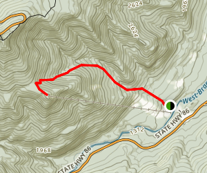 Little Whiteface Mountain Map