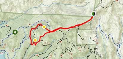 East Ridge, and Canyon Loop Map