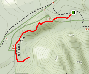 Ice Beds Trail Map