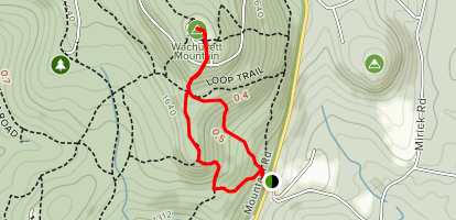 Mountain House Trail to Jack Frost Trail Map