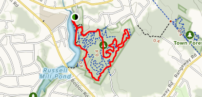 Green Birdhouse and Orange Goose Loop Trail Map