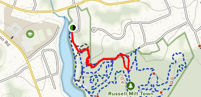 Blue Heron to Red Bird Connector and Rocky Pass Map