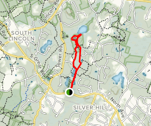 Twin Pond Area to Beaver Pond Loop Map