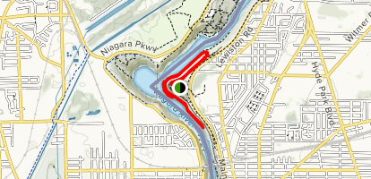 Niagara Gorge Rim Trail and Whirlpool Rapids Loop Map