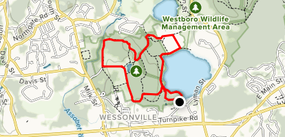 Westboro Wildlife Management Area and Chauncy Lake Loop Map