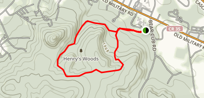 Henry's Wood's Loop Trail Map