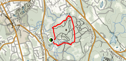 Old Prospect Road to Ward Trail Loop Map