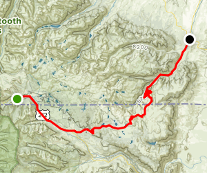 Cooke City to Red Lodge Montana Scenic Drive Map