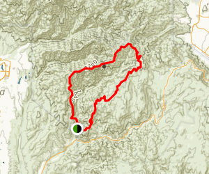 San Juan Trail to Los Pinos Trail Loop Map