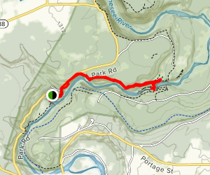 Inspiration Point and Lower Falls via Gorge Trail Map