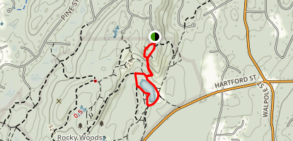 Tower Trail to Chickering Lake Map