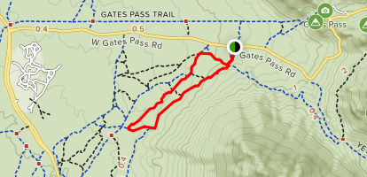 Prickly Pear Gates Pass Map