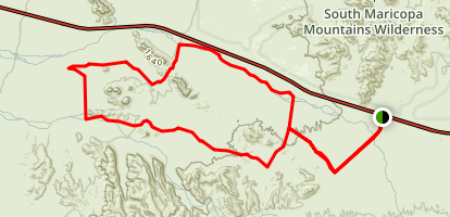 Sonoran Desert National Mounment Big Horn Trail Map