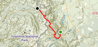 Silver Lake to Tioga Pass Rd Map