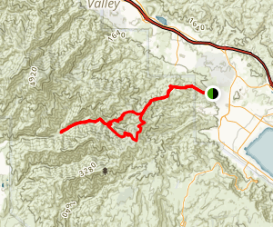 Horsethief Trail and Trabuco Canyon Trail to Main Divide Truck Road Loop Map