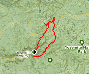 Mist Trail, Cloud Rest, May Lake and Snow Creek Loop Map