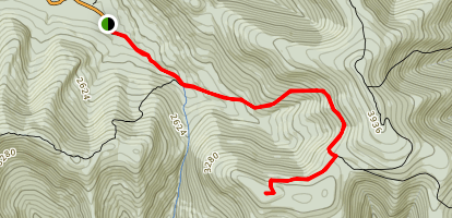 Southwest Hunter Mountain via Spruceton Road Map