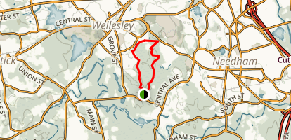 Ridge Hill Reservation and Sudbury Aqueduct Loop Map