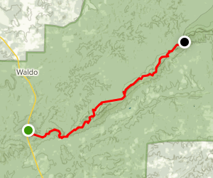 Pinhoti Trail: Porters Gap to Adams Gap Map