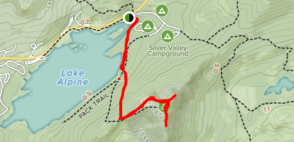 Lake Alpine Inspiration Point Map