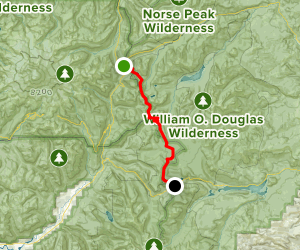 Pacific Crest Trail: Chinook Pass to White Pass Map